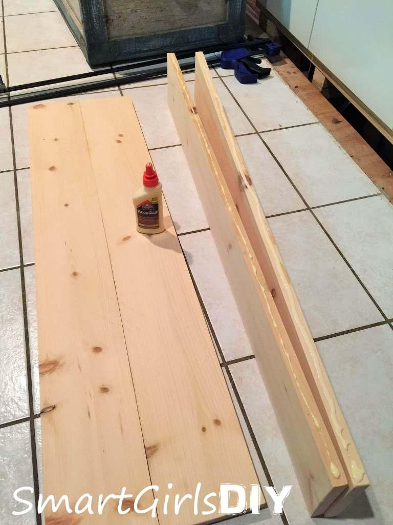 Building a DIY coffee table top