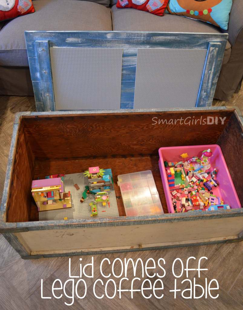 Lid comes off Lego coffee table