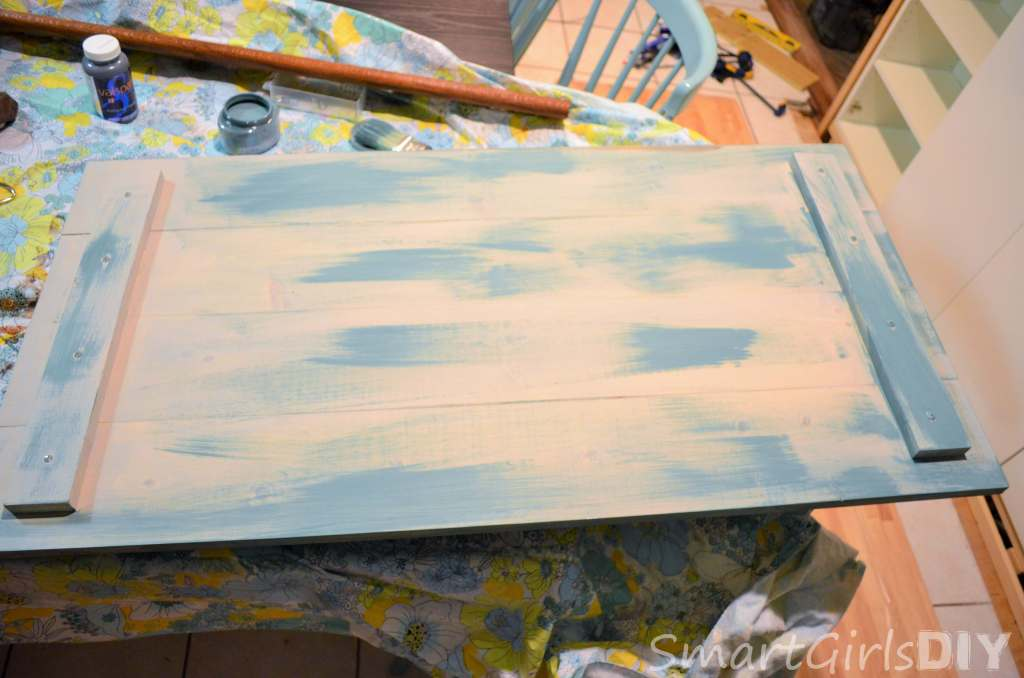 Painting a DIY coffee table top