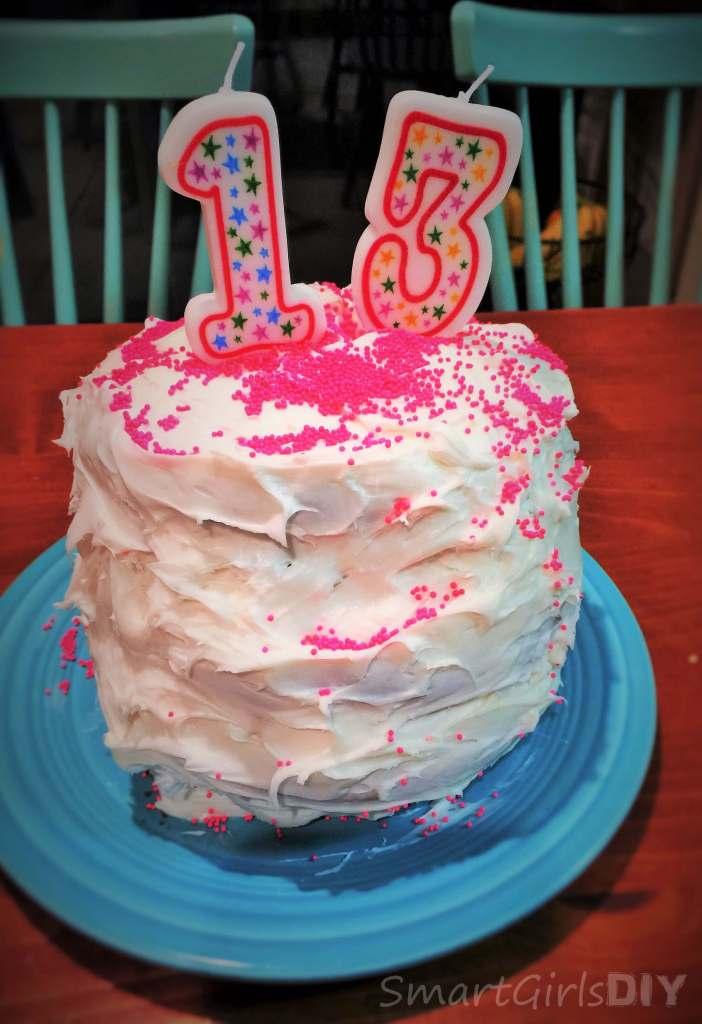 13th birthday rainbow cake