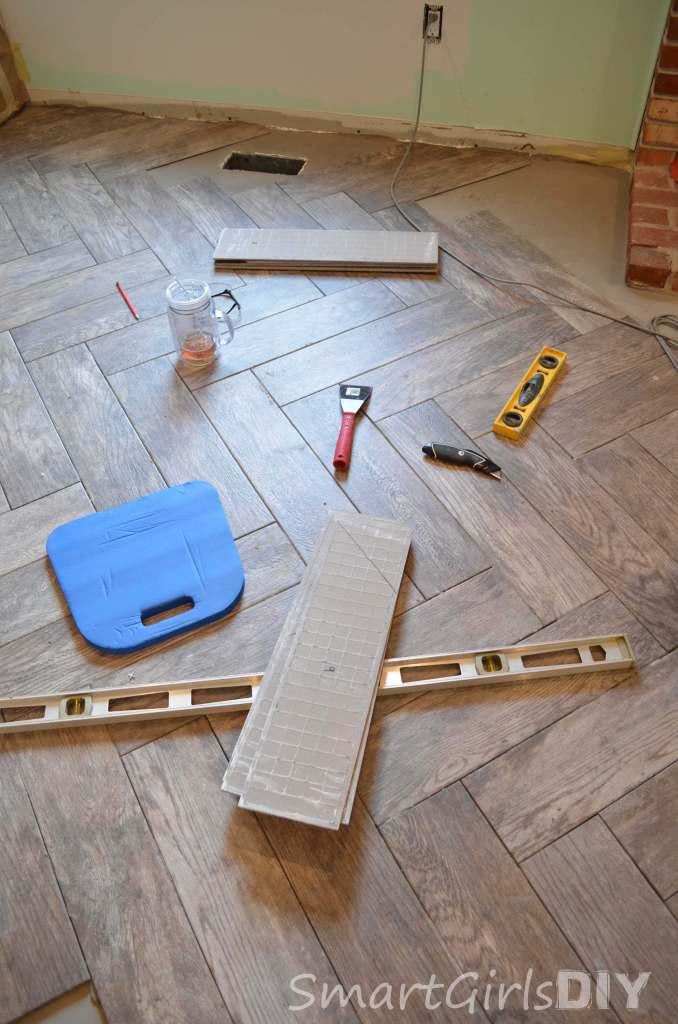 Tiling a Herringbone Floor