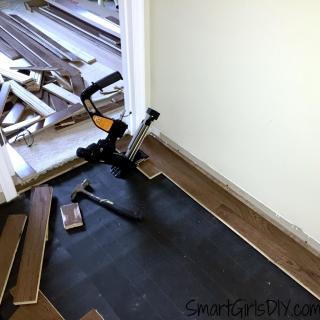 Upstairs Hallway 1: Installing Hardwood Floors