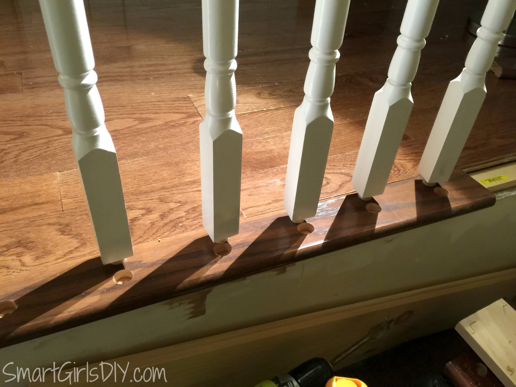 Beautiful ... How To Install Spindles On Your Indoor Staircase
