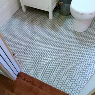 Guest Bathroom 7: DIY Hex Tile Floor
