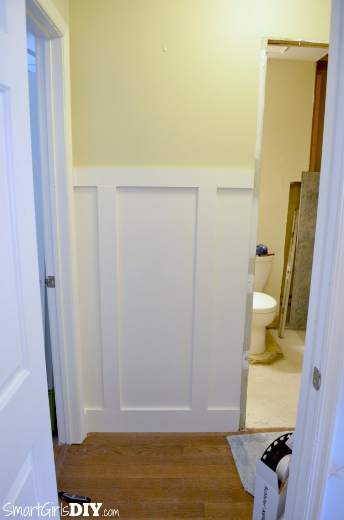 Hallway side of pocket door install