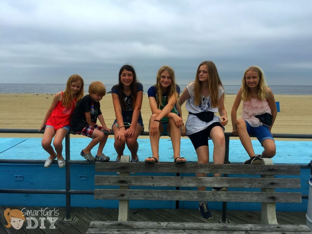Hanging with their Danish cousins on the boardwalk