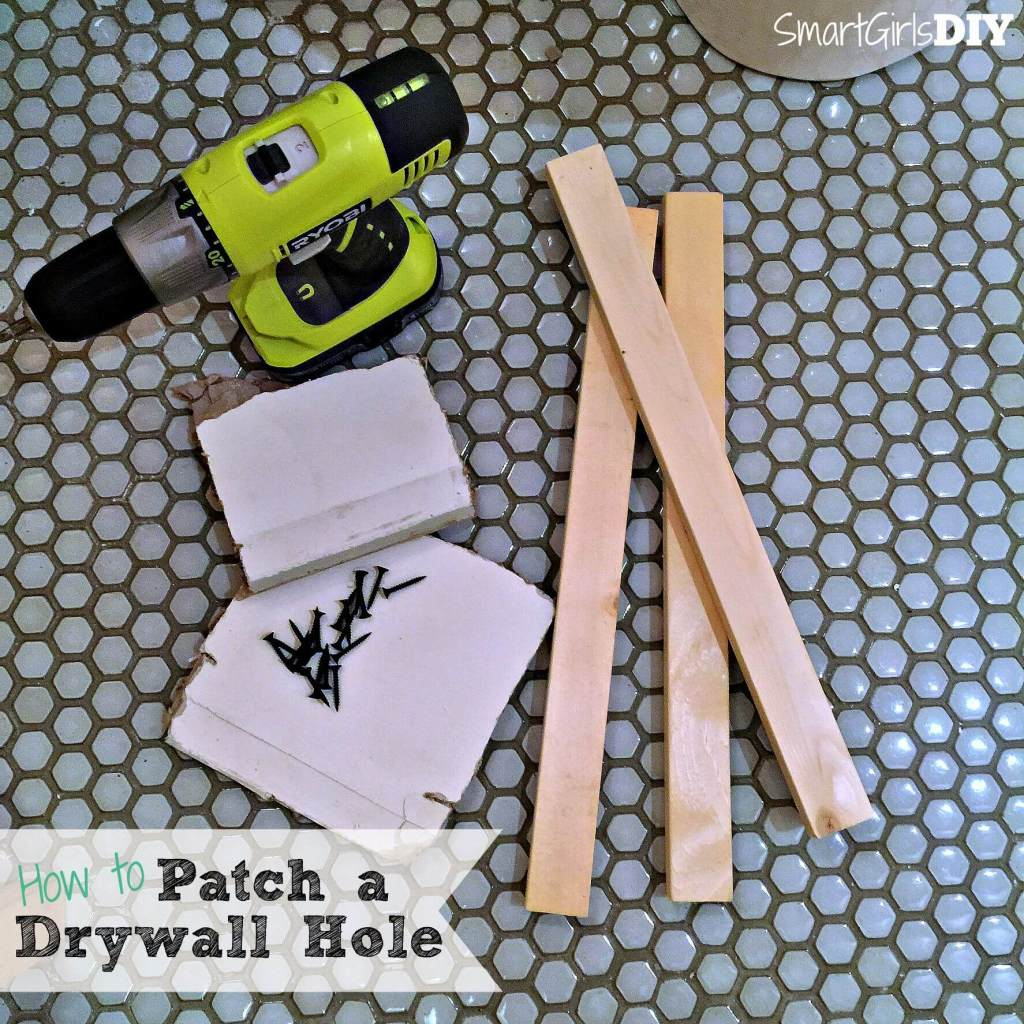 How to patch a drywall hole Smart Girls DIY