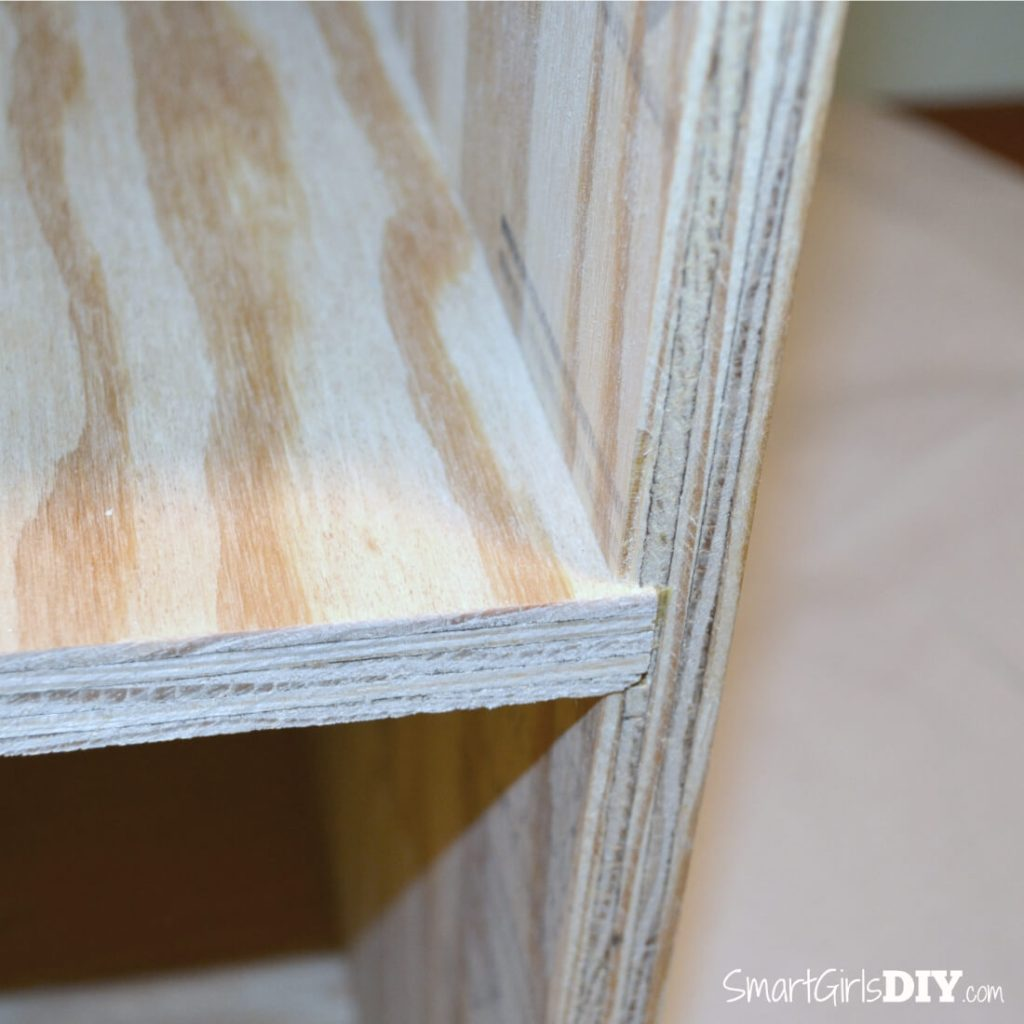 Slide shelf into dado joint or screw it into place