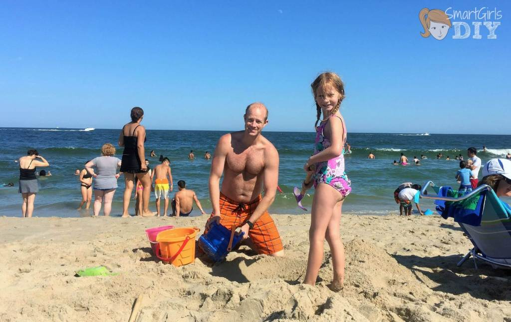 Summer on the beach in Ocean Grove NJ