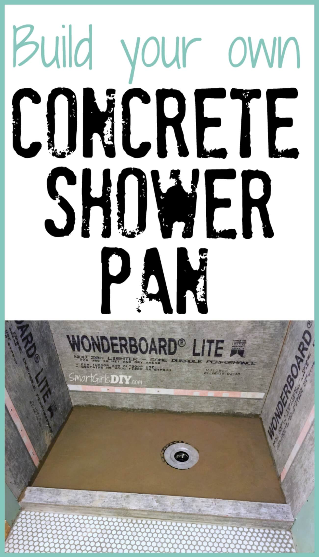 Build Your Own Concrete DIY Shower Pan    It Isnu0027t Nearly As Hard