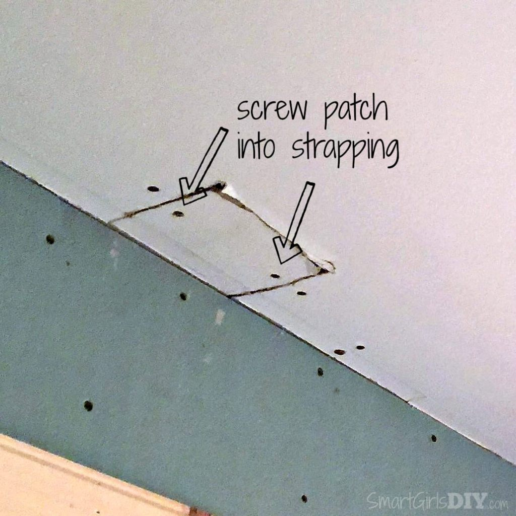 Screw patch into strapping