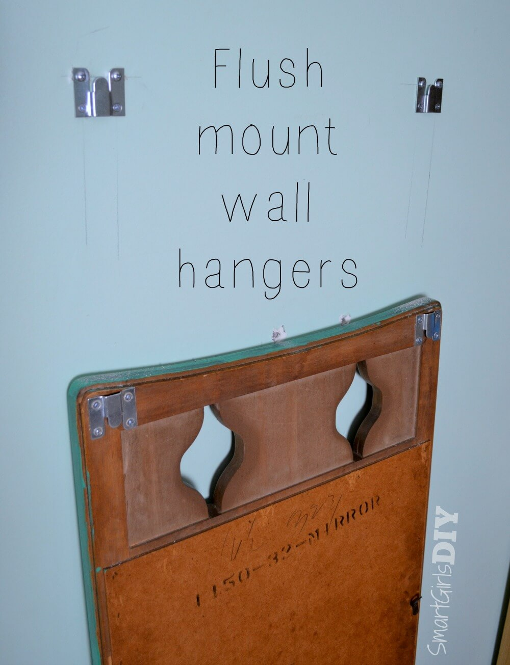 Flush mount wall hangers