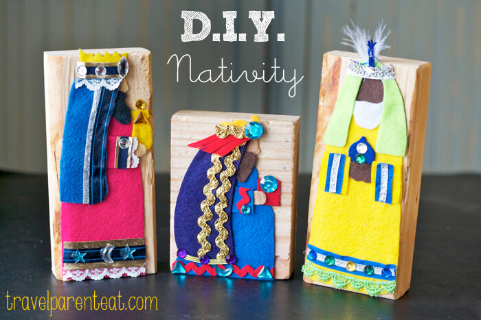 DIY Felt Nativity Blocks