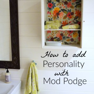 Add Personality with Decoupage