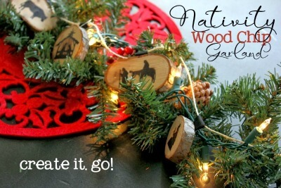 Nativity Wood Chip Garland