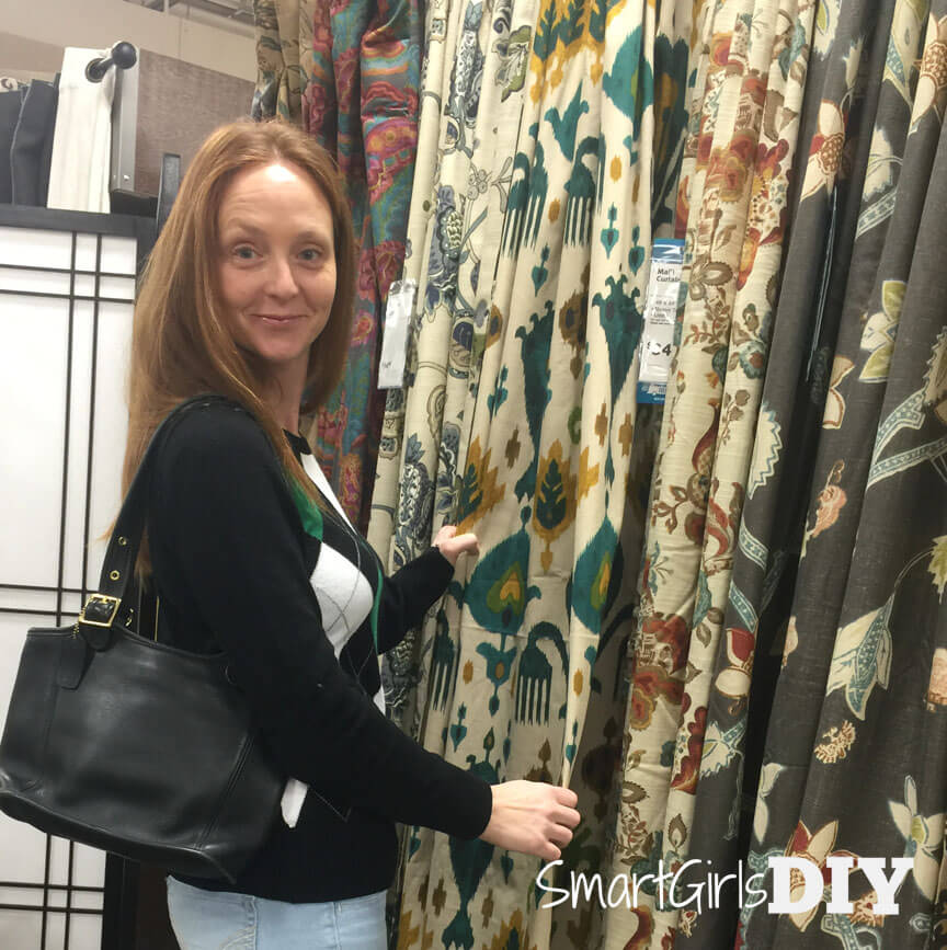 Smart Girls DIY curtain shopping at Cost Plus World Market Shrewsbury