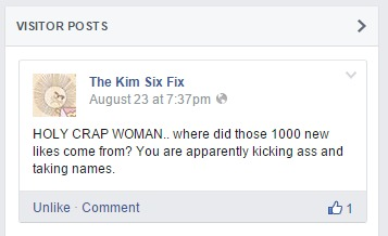 Kim Six Facebook Comment lol