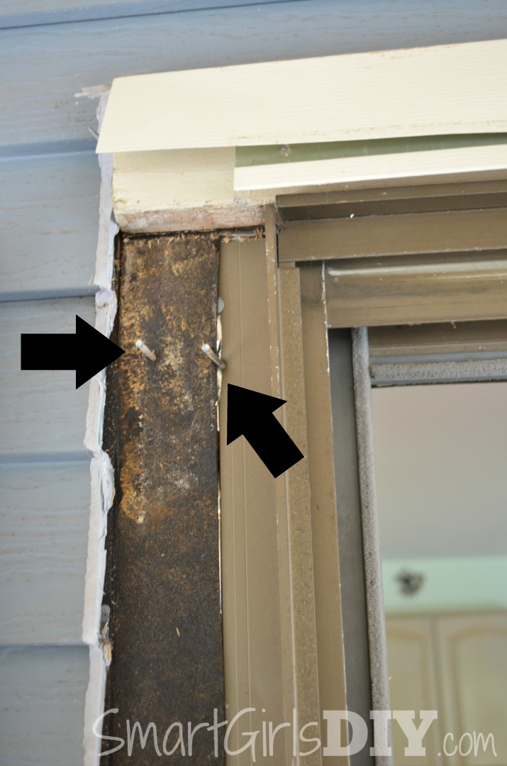 Remove nails from door frame & Installing Pella Patio Doors (Architect Series) pezcame.com