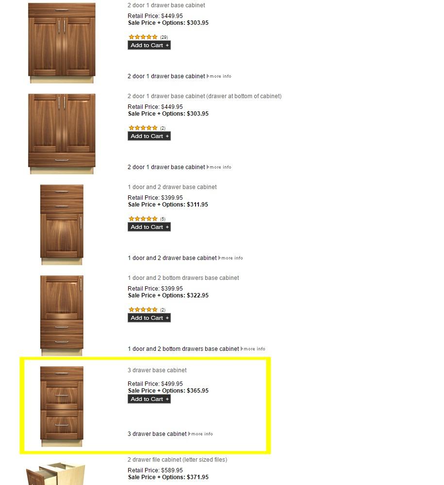 ordering barker cabinets - part 2