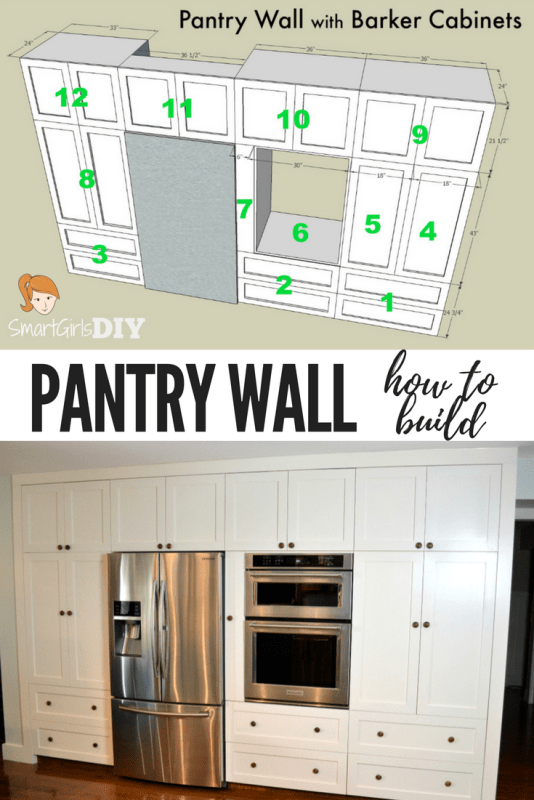 how to build kitchen pantry cabinet how to build a pantry wall with barker cabinets 16824