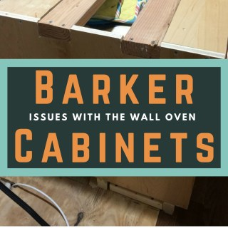 Adding Support to Barker Cabinets so They Will Hold a Wall Oven