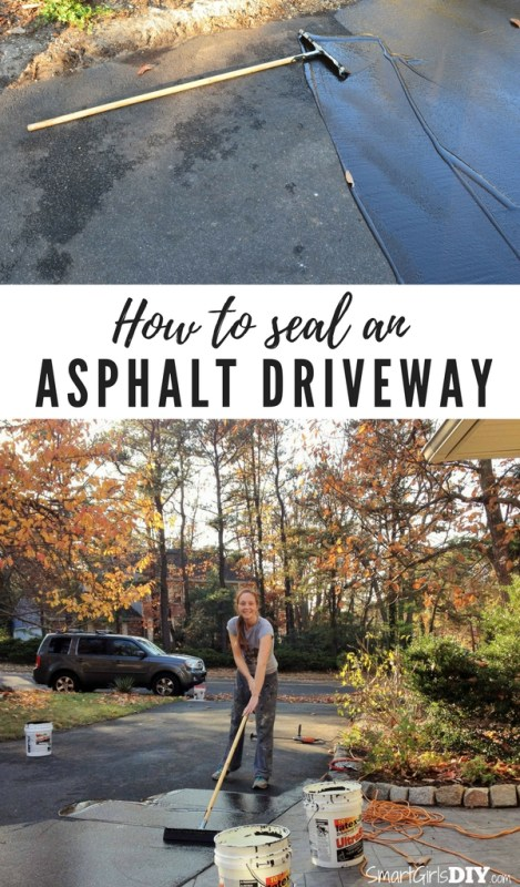 How to seal an asphalt driveway - Smart Girls DIY