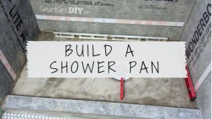 How to build a custom shower pan