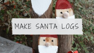 How to make santa logs