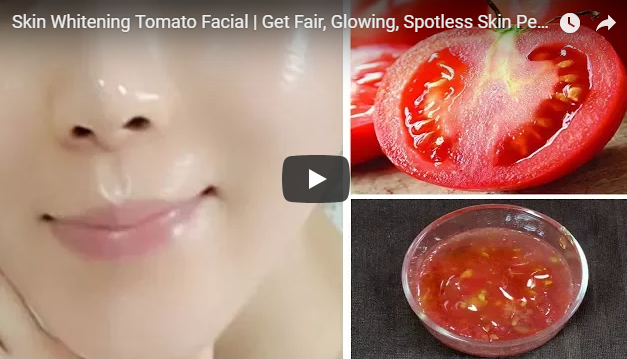Beauty of skin whitening using Tomato for spotless body