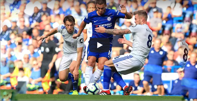 Eden Hazard vs Cardiff City English Premier League