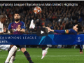 Champions League: Barca Vs Manchester united 16/4/2019