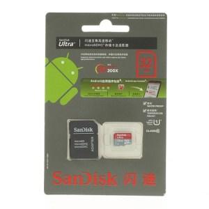 32Gb Class 10 / UHS-1 SD-kort inkl adapter