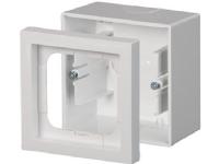 ABB Impressivo Underlag 1 modul hvid (RAL9016) med ramme, 80x80x54mm