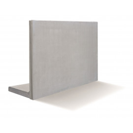 RC Beton L-Stød4KN/m2 160 x 100 cm - Grå
