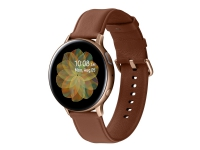 Samsung Galaxy Watch Active 2 - 44 mm - guld rustfrit stål - smart ur med bånd - læder - brun - display 1.4 - 4 GB - Wi-Fi, NFC, Bluetooth - 42 g (N