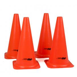 4 orange kegler - 38 cm