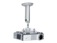 SMS Projector CL F700 w/SMS Unislide - Monteringspakke (til loftmontering) for projektor (Skærmtiltning og -drejning) - sølv, aluminium - loftsmonter