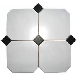 Octagon Hvid Mat 20x20 cm