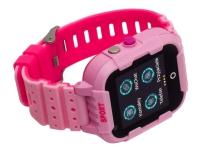 Garett Kids 4G - Pink - smart ur med rem - gummi - display 1.4 - 4 GB - Wi-Fi, Bluetooth - 4G