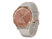 Garmin vívomove 3S - 39 mm - lyst sand - smart ur med bånd - silikone - lyst sand - håndledsstørrelse: 110-175 mm - monokrom - Bluetooth, ANT+ - 24.5