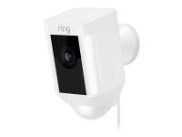 Ring Spotlight Cam Wired - Netværksovervågningskamera - udendørs - vejrbestandig - farve (Dag/nat) - 1080p - audio - trådløs - WiFi