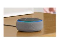 Amazon Echo Dot (3rd Generation) - 3rd Generation - smart højttaler - Bluetooth, Wi-Fi - App-kontrolleret - varme grå