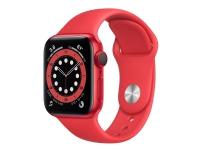 Apple Watch Series 6 (GPS + Cellular) - (PRODUCT) RED - 44 mm - rød aluminium - smart ur med sportsbånd - fluoroelastomer - rød - båndstørrelse: S/M/