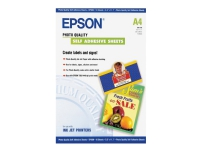 Epson Photo Quality Self Adhesive Sheets - Selv-klæbende - A4 (210 x 297 mm) - 167 g/m² - 10 stk. ark - for Expression Home HD XP-15000 Expression P