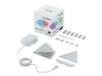 Nanoleaf Shapes Smarter Kit Mini - Trådløst belysningssæt - LED x 5 - 0.57 W - 16 millioner farver - 1200-6500 K - triangel