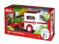 BRIO 30381 My Home Town - Ambulance med lys og lyd