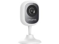 Creative Live! Cam IP SmartHD - Netværksovervågningskamera - farve (Dag/nat) - 1.3 MP - 1280 x 720 - fast brændvidde - audio - trådløs - WiFi - H.264