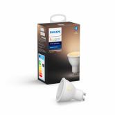 Philips Hue GU10 LED-pære, White ambiance, Zigbee + Bluetooth, A+ (1 stk/pak)
