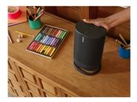Sonos Move - Smart højttaler - til transportabel brug - Bluetooth, Wi-Fi, Wi-Fi - App-kontrolleret - 2-vejs - sort (gitterfarve - sort)