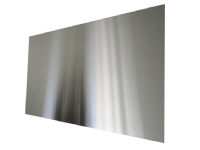 Stænkplade firkantet 900x450 mm. rustfri